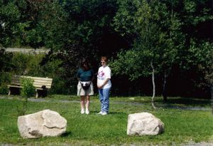 Andrea and Karen at gravesite
